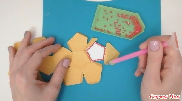 Новогодняя игрушка из алмазной мозаики. Почти мастер-класс :)