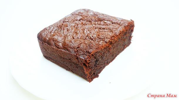 Сочный шоколадный кекс брауни - с наступающим шокоголики!)