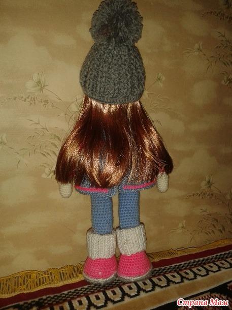 . Волосы для кукол из атласной ленты