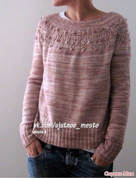 Пуловер спицами Arven Isabell Kraemer