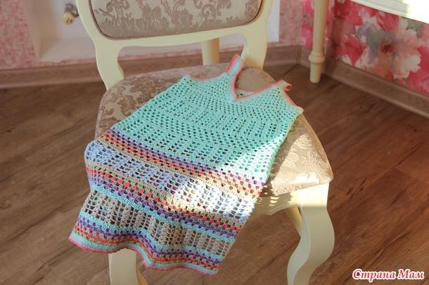 . Вязание из льна для девочек