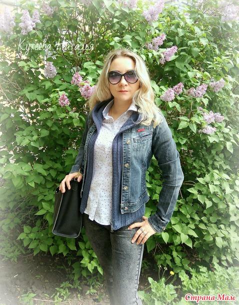 """. Комбинированная джинсовая куртка... или Переделка/доделка """"джинсовки""""..."""