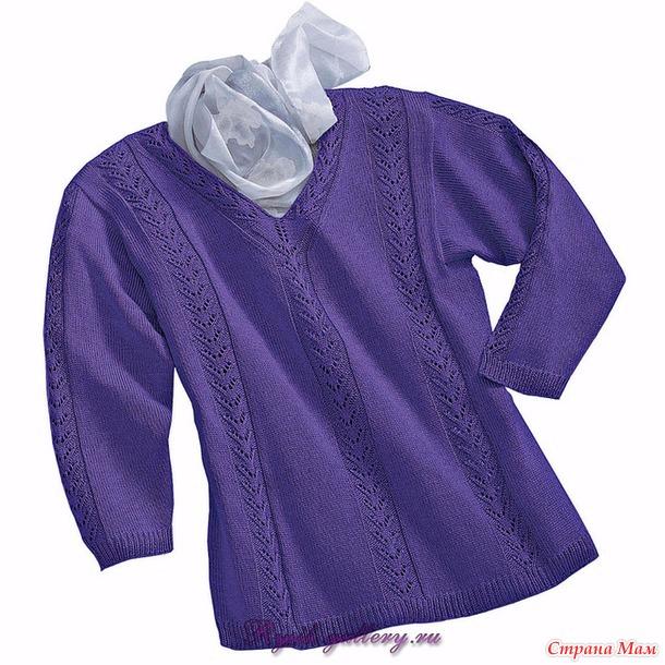 . Пуловер спицами