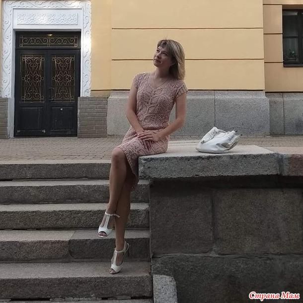 Платье ленточные ананасы