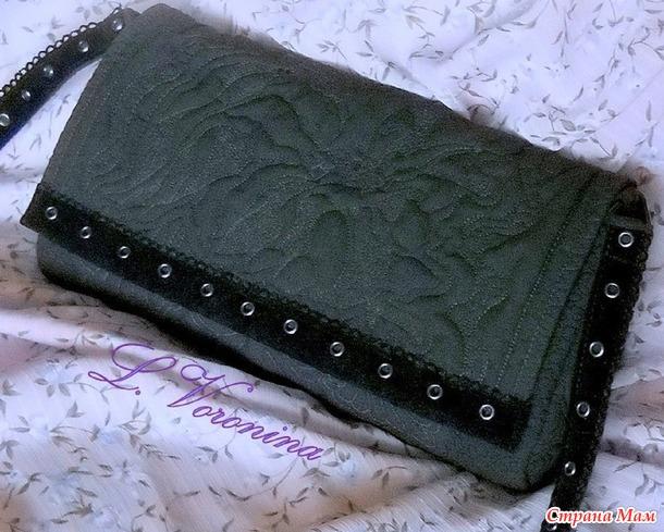 Клатч или сумочка с длинным ремешком - Кармен