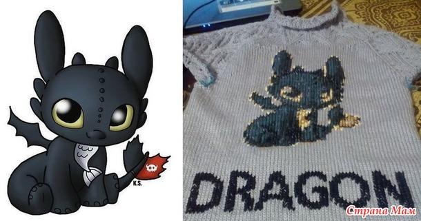 .*Детский свитшот DRAGON. Платное описание.