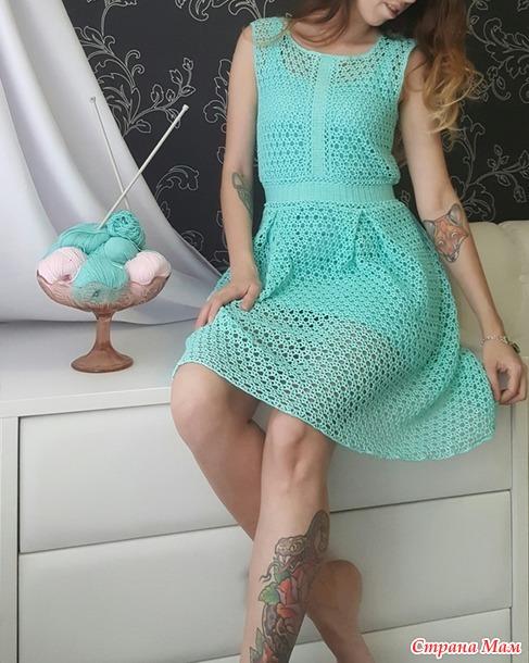 . Платье Тиффани крючком