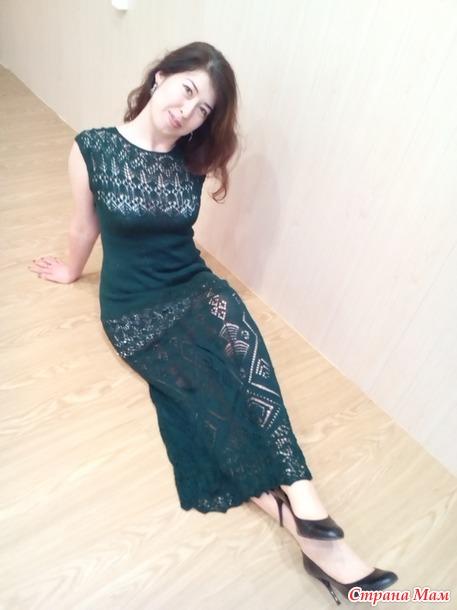 платье шетландскими узорами тайга вязание страна мам