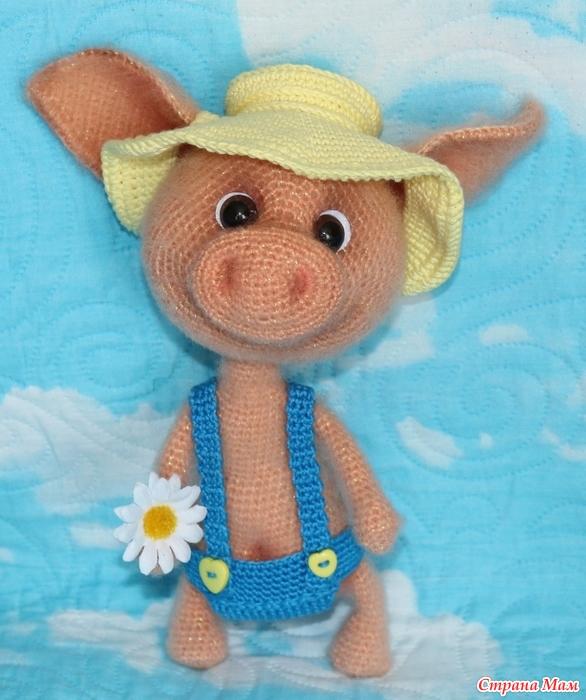 свинка крючком вязание страна мам