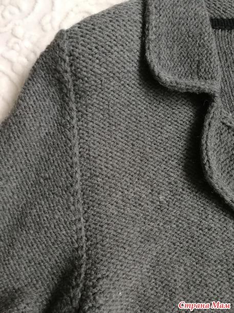 классический мужской пиджак спицами вязание страна мам