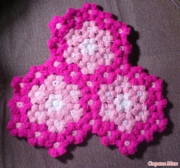Плед из пышных цветочков