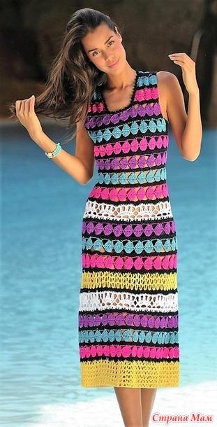 b9e351cd25b вязанные крючком платья - Самое интересное в блогах