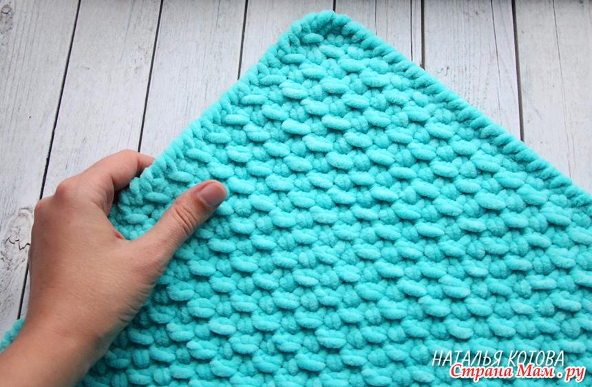 плед крючком из плюшевой пряжи видео мастер класс вязание