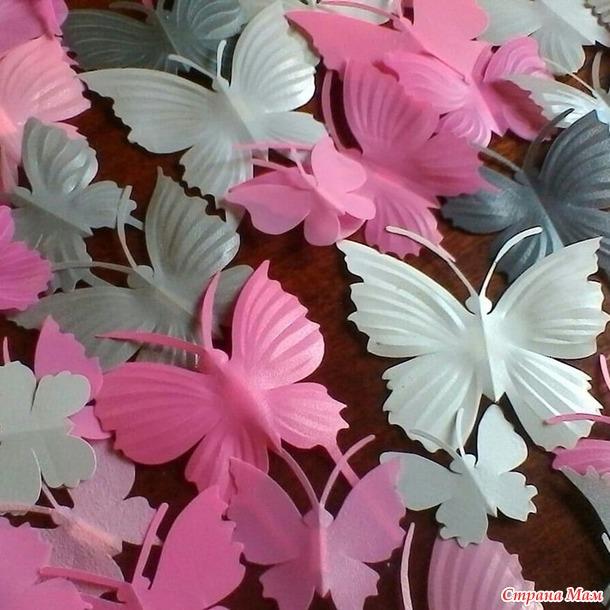 "*Декор для стен, окон ""Бабочки"". Ручная работа."
