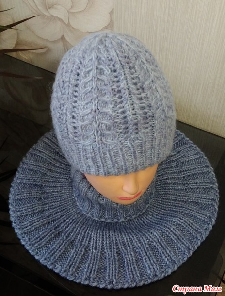 *Мастер класс. Меланжевая шапка. Россия