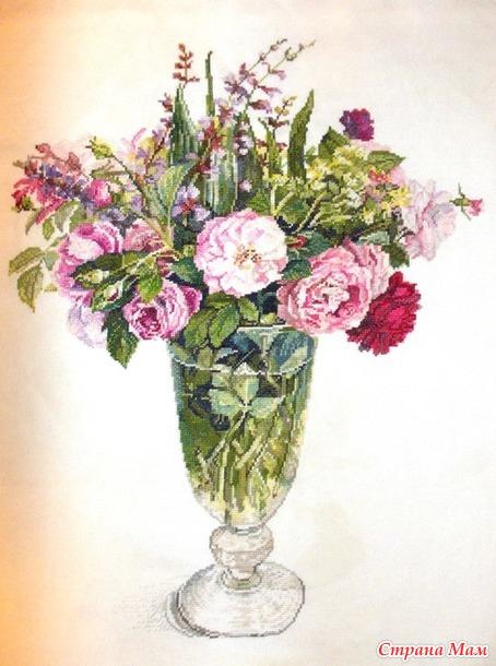 Вышитые картины по акварелям Х. Фуджико