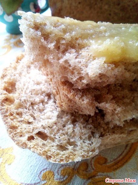 """Хлеб пшеничный цельнозерновой """"Вкус детства"""". Дополнила хлебом на растительном масле."""