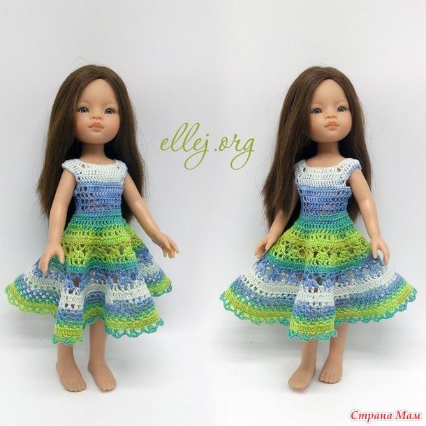 Платье Мохито для Паола Рейна крючком