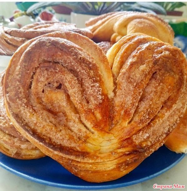 "Сахарные булочки ""Сердечки"" с корицей"
