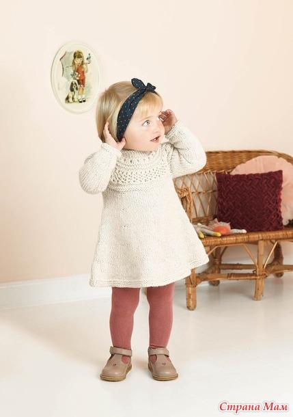 Детское платье спицами «Мистен» от Саднес Гарн