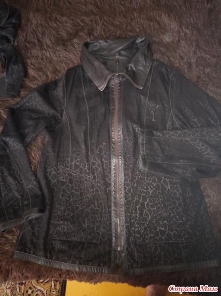 Продам женскую кожаную куртку. б. у.