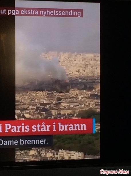 Пожар в кофедральном соборе Нотер-Дам в Париже (дополнила)