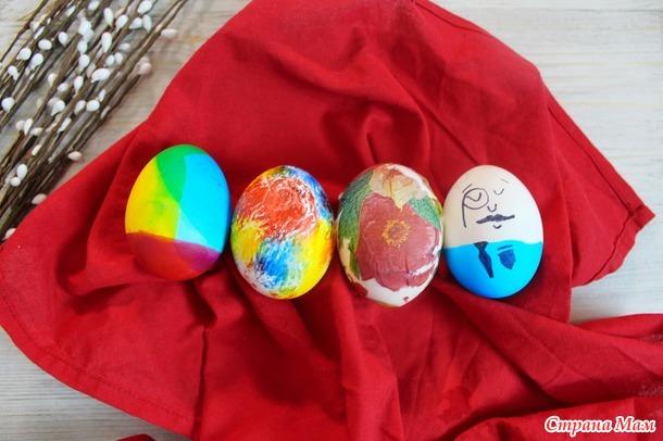 Как мы красим яйца на Пасху. 4 способа покраски яиц на пасху