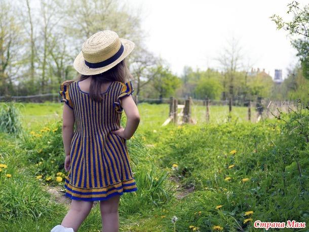 Платье-сарафан для девочки крючком