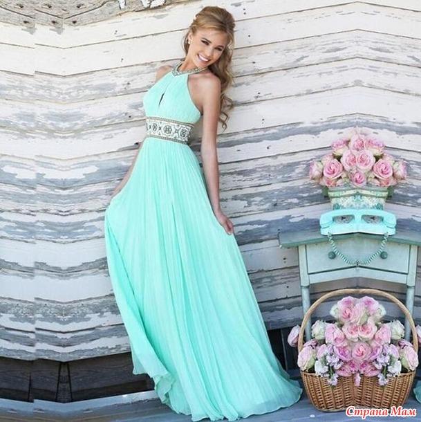 Летнее платье для девушки.