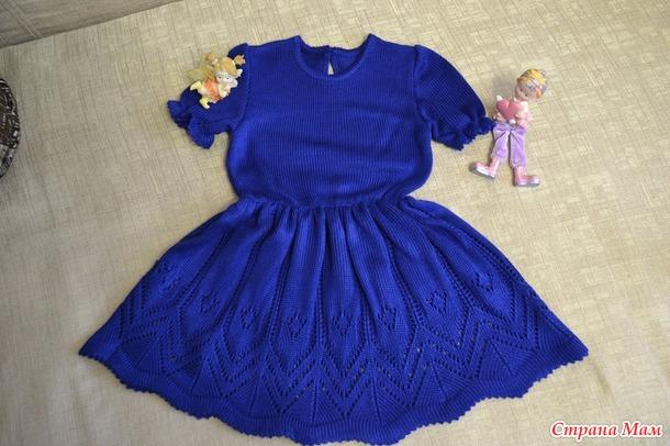 Платье для девочки из итальянского хлопка.