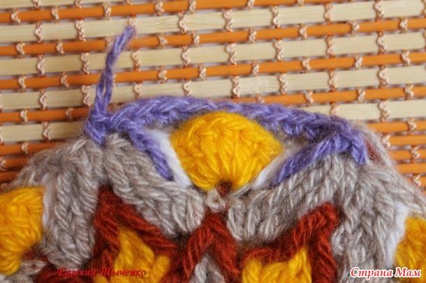 """Совместное вязание коврика """"ромашка"""" часть 1"""