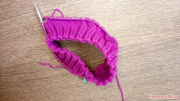 Игра Радуга. Август. Цвет настроения-фиолетовый.  Шапка для уральского лета.
