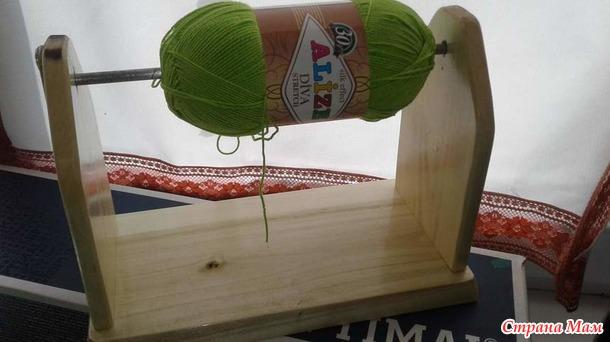 Приспособление для пряжи при вязании