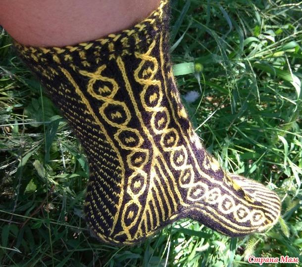 Игра Радуга, март. Жаккардовые носочки.