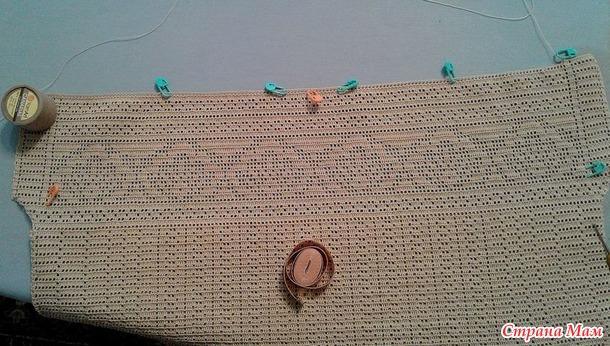 Топ. Филейное вязание