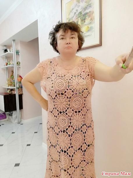 Мой розовый лен - платье, попытка № 2