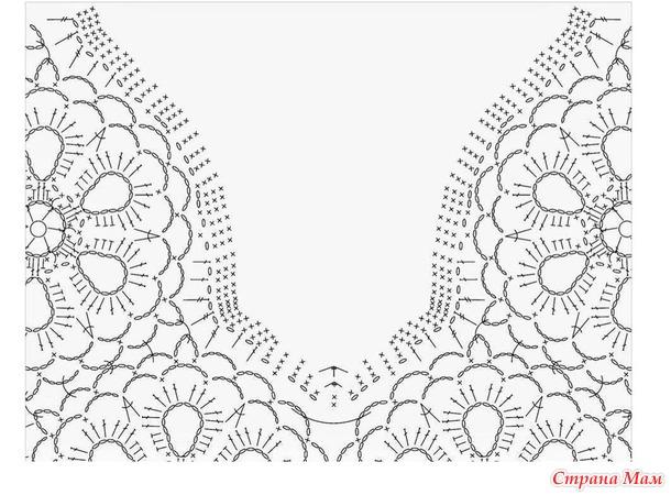 Волшебные прикосновения. Сиреневая туника свободного силуэта с кокеткой из цветов