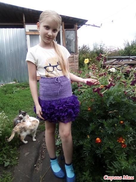 """""""Радуга"""". Август в фиолетовом. Отчет №2. Юбчонка для девчонки."""