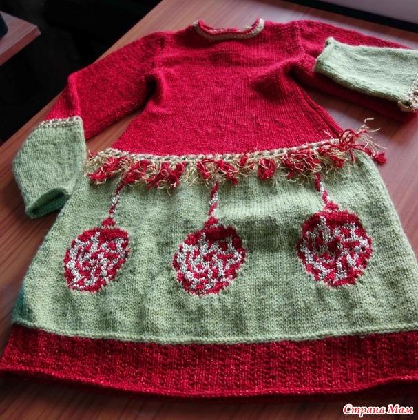 Новогоднее платье для внучки