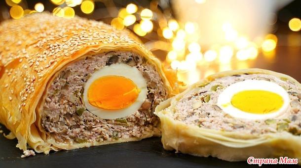 Горячее блюдо из фарша на Новогодний стол  – красиво и очень вкусно!