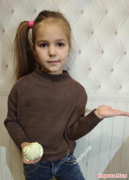 """Свитер """"Шоколадка"""" для внучки"""