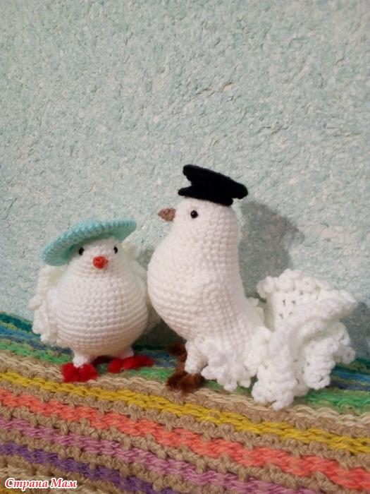 голубь вязаный крючком вязание страна мам