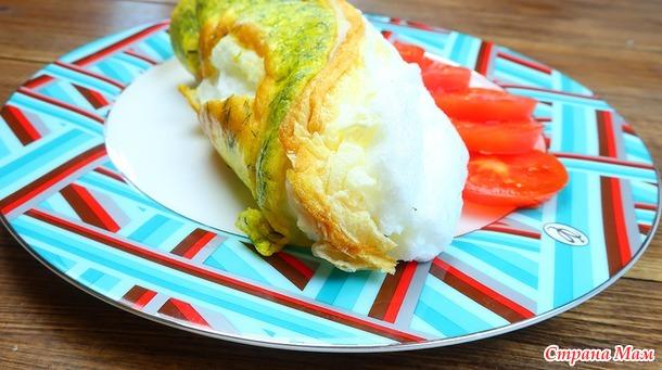 Омлет Пуляр - завтрак в Париже) удивляем своих любимых романтическим завтраком)