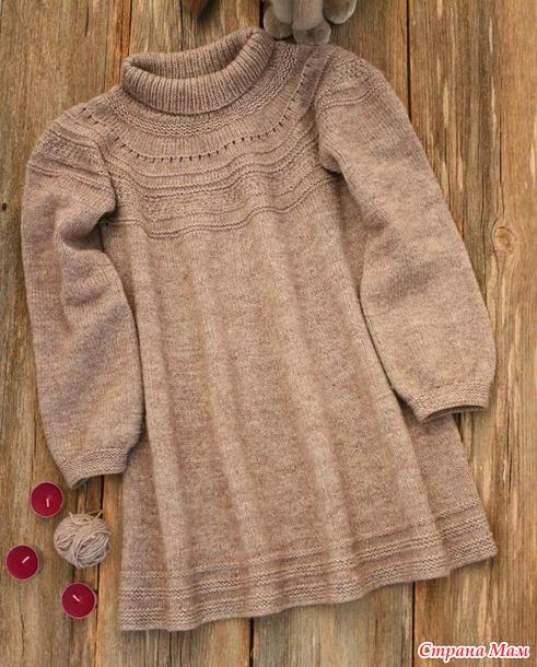 . Детское платье спицами