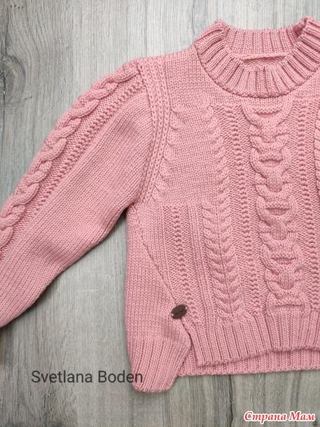 Вяжем пуловер для девочки.