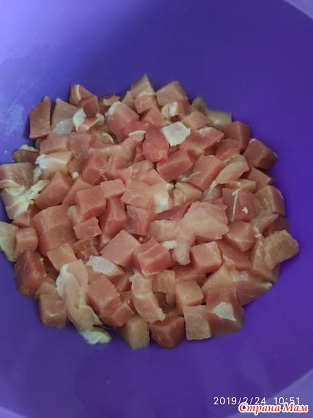 Свинина с овощами.