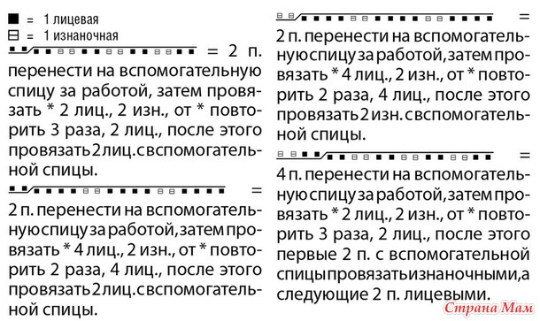 СВИТЕР с КОСАМИ из РЕЗИНКИ 2 на 2 спицами