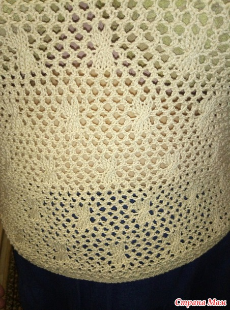 Кофточка на лето с короткими рукавами  из хлопка 50 размера
