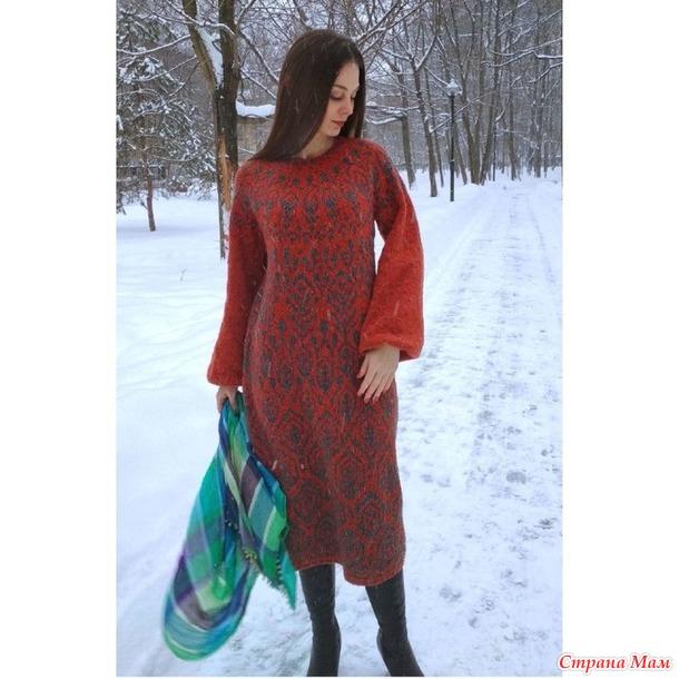"""Платье """"Омела"""" платное описание"""