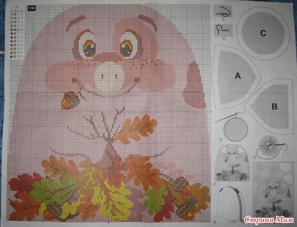Подушка Свинка от Риолис
